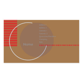 Incomplete Circle - Business Business Card