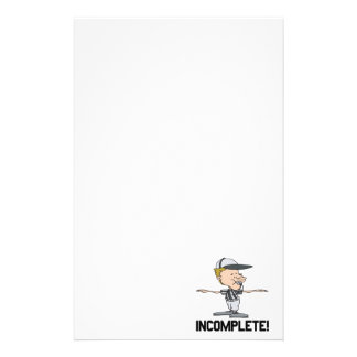 Incomplete Stationery Paper