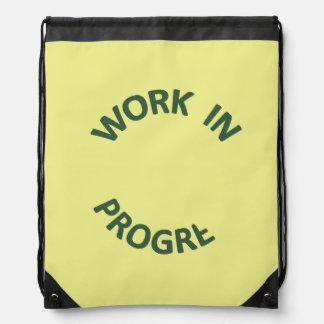 Incomplete Work In Progress Cinch Bags