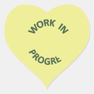 Incomplete Work In Progress Heart Sticker