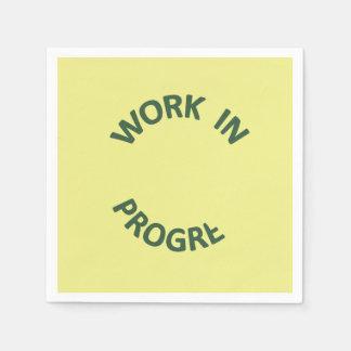 Incomplete Work In Progress Paper Napkin