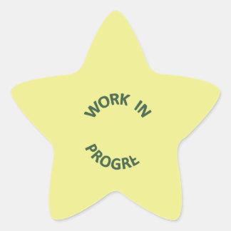 Incomplete Work In Progress Star Sticker