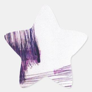Incompleto plano pegatina en forma de estrella