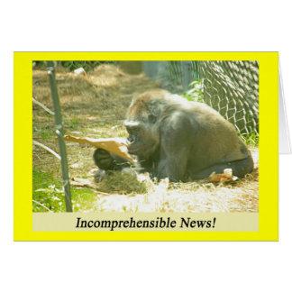 Incomprehensible News! Card