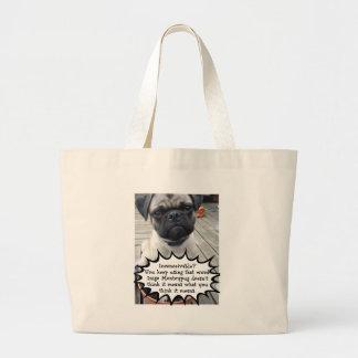 Inconceivable Inigo Montoypug Large Tote Bag