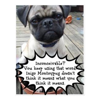 Inconceivable Inigo Montoypug Postcard