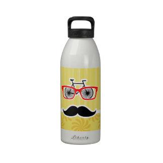 Inconformista amarillo divertido botellas de beber