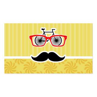 Inconformista amarillo divertido tarjetas de visita