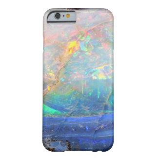 Inconformista bling mineral del bokeh de la falsa funda de iPhone 6 barely there
