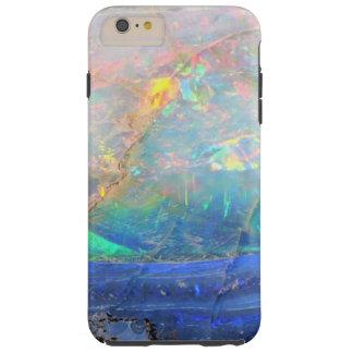 Inconformista bling mineral del bokeh de la falsa funda de iPhone 6 plus tough