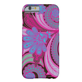 Inconformista bohemio Paisley floral Funda Para iPhone 6 Barely There