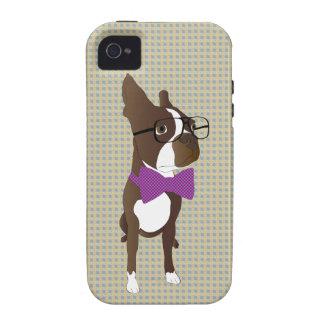 Inconformista Boston Terrier iPhone 4 Carcasa
