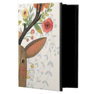Inconformista, ciervo, floral, mano dibujada,