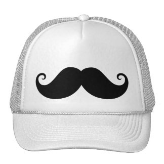 Inconformista de moda del bigote negro divertido d gorros
