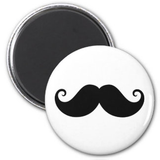 Inconformista de moda del bigote negro divertido d imán de frigorifico