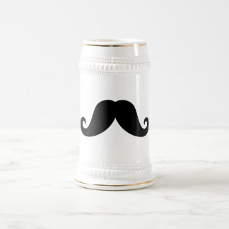Inconformista de moda del bigote negro divertido d taza de café