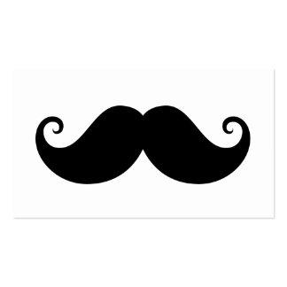 Inconformista de moda del bigote negro divertido tarjetas de visita