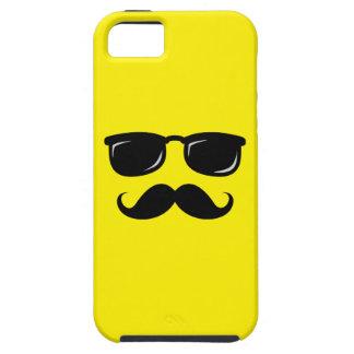 Inconformista de moda del bigote sonriente incógni iPhone 5 Case-Mate carcasa