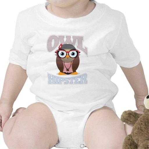 Inconformista del búho del chica trajes de bebé