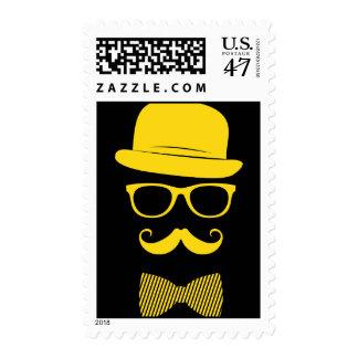 Inconformista del señor sello postal