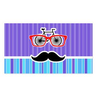 Inconformista divertido; Rayas azules y púrpuras Tarjetas De Visita