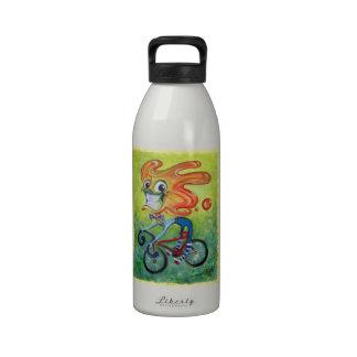 Inconformista feliz botellas de agua reutilizables
