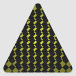 Inconformista geométrico del negro del verde caqui calcomanías de trianguladas