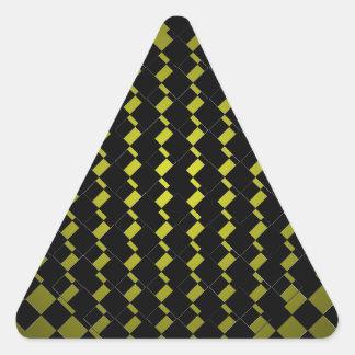 Inconformista geométrico del negro del verde caqui pegatina triangular