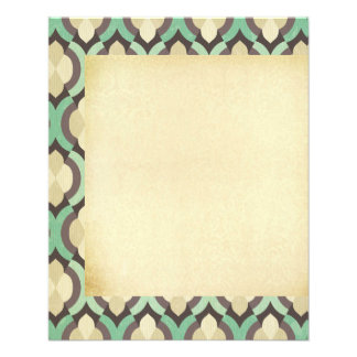 Inconformista, marroquí, quatrefoil, vintage, folleto 11,4 x 14,2 cm