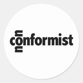 Inconformista Etiqueta Redonda