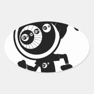 inconformista pegatina de oval personalizadas