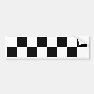 Inconformista retro del tablero de damas blanco y  pegatina para auto