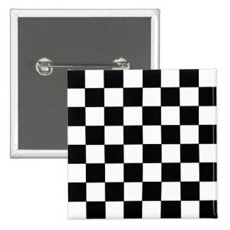 Inconformista retro del tablero de damas blanco y  pin