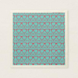 Inconformista retro lindo de la lente servilleta de papel