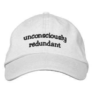 Inconsciente redundante gorra de béisbol
