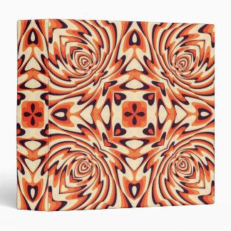 """Inconsútil floral retro colorido carpeta 1 1/2"""""""