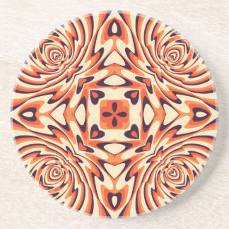 Inconsútil floral retro colorido posavasos manualidades