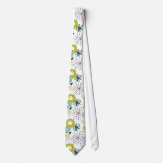 Inconsútil floral retro corbata