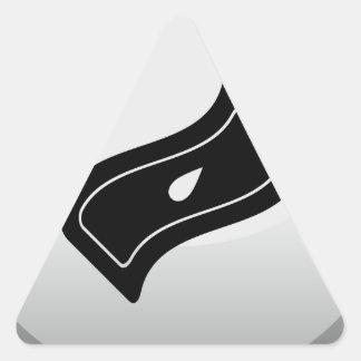 Incontinence Icon Round Button Triangle Sticker