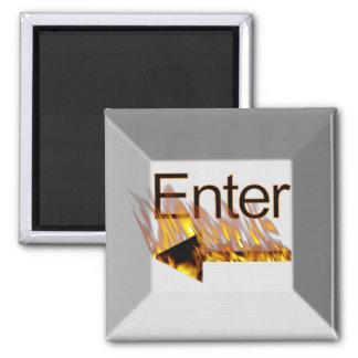 Incorpore la llave de teclado imán cuadrado