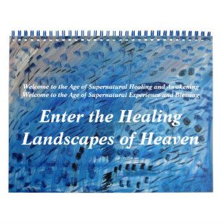 Incorpore los paisajes curativos del cielo calendario