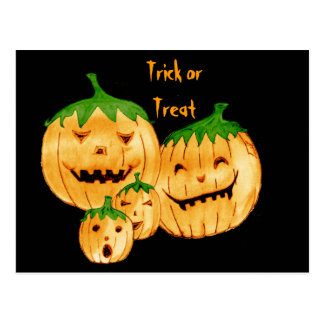 Incorrigible Pumpkins, Trick Or Treat Postcards