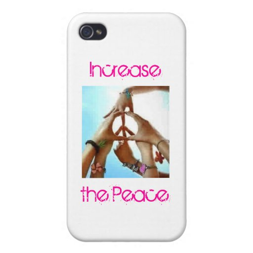increase the peace iPhone 4/4S covers