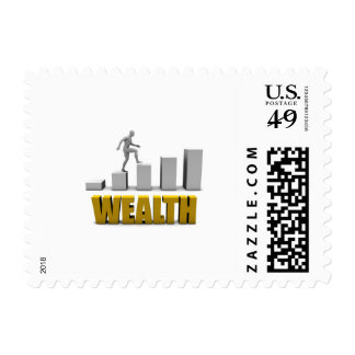 Increase Your Wealth or Business Process Postage Stamp