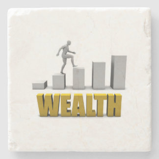 Increase Your Wealth or Business Process Stone Coaster