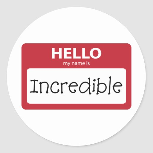 incredible 001 stickers