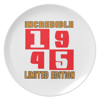 Incredible 1945 limited edition dinner plates