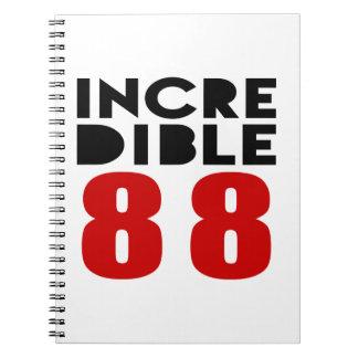 Incredible 88 Birthday Designs Spiral Notebooks