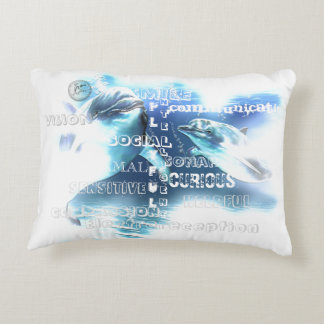 """Incredible Dolphins Cotton Accent Pillow 16"""" x 12"""""""
