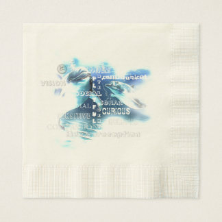 Incredible Dolphins Ecru Luncheon Paper Napkins